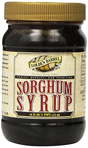 Serve an Easy Recipe for Corn Fritters with Ham with Golden Barrrel Sorghum Syrup Wide Mouth Jar, 16 oz