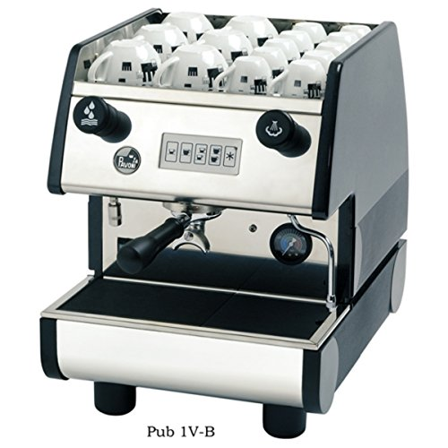 La Pavoni PUB 1V-B 1 Group Volumetric Electronic programmable Dosing Espresso Machine with Digital Control Pad (Black)