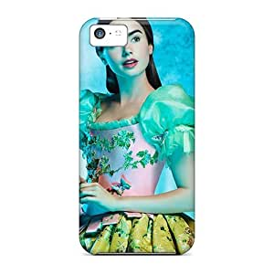 New Shockproof Protection Case Cover For Iphone 5c/ Snow White Lily Collins As Desktop Case Cover