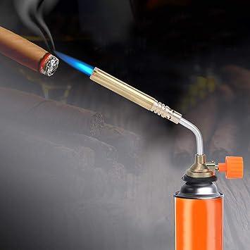 1300 ℃ Portable Coupe-Vent Briquet /À Gaz Chalumeau Flamme Pistolet pour Cuisson Cuisson De Soudage Cassette Torche Torche en Laiton Torche Outil De Cuisson