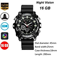 NT-LING Portable Watch Hidden 1080P HD Wristband Watch Cameras Built-in 16GB