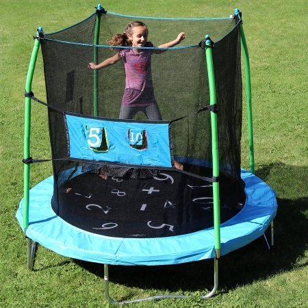 Skywalker 7.5' Trampoline with Enclosure Combo and Bonus Game by Skywalker Trampolines by Skywalker Trampolines