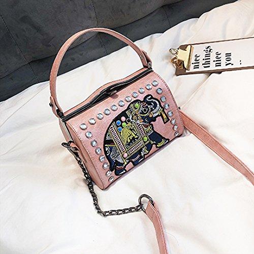 Style Cuir à Cross Body Femmes PU Pour En Sac Pink Bandoulière nS6IqxqB