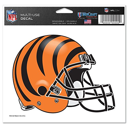 """NFL Cincinnati Bengals 4.5"""" x 6"""" Team Helmet Ultra Decal Cling"""
