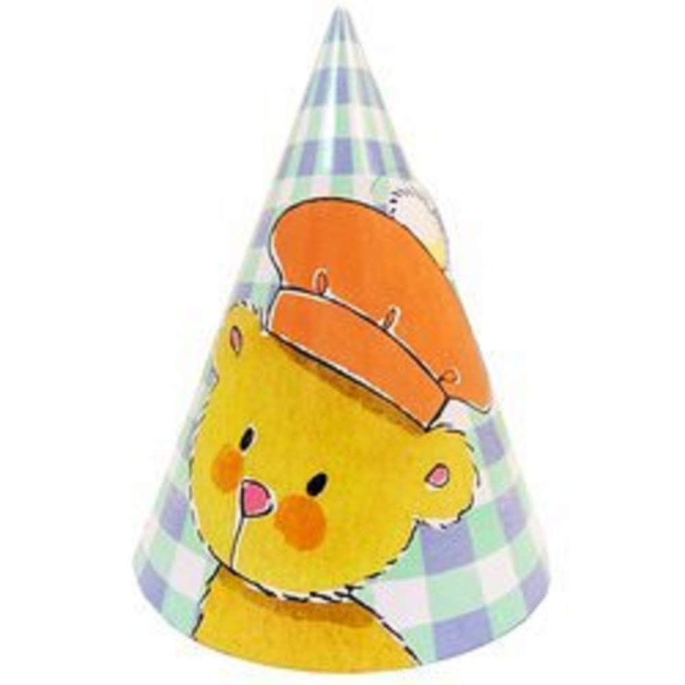 Party Hats Teddy Bear Party Favors Kids Birthday Celebration Paper Cone (624-Count)
