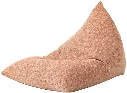LLRYN Lazy Sofa, Bean Bag Cover for Organizing Kid's Room,72cmx100cm, Gray, Orange