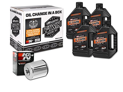 Maxima Racing Oils 90-069014C Quick Evo-Sportster Mineral 20W-50 Chrome Filter Engine Oil Change Kit, 128. Fluid_Ounces