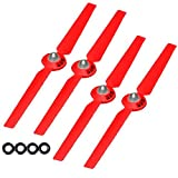 SSE Self-tightening Propellers Props Rotor Blade Sets A and B for Yuneec Typhoon G, Q500, Q500+, Q500 4K Quadcopters (Red)