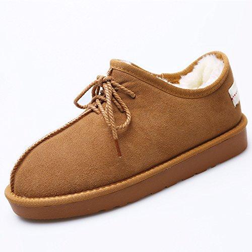 neige hommes Chaussures chaud velours épais chaudes d'hiver rembourré de bottes chaussures coton chaussures low boots Coton maroon et 6AqBwnxp