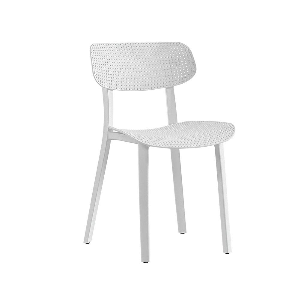 CAO-LIFE Dining Plastic Chairs Lounge Sessel Büromöbel Freizeit Home Dining Chair Hohl Außenaufnahme Büro Salon Stuhl (Farbe   Rot) Weiß