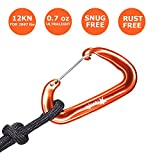 12KN-Aluminium-Wiregate-Carabiners-2-or-4-Pack-Rated-2697-LBS-each-Lightweight-Carabiner-Clips-for-Hammock