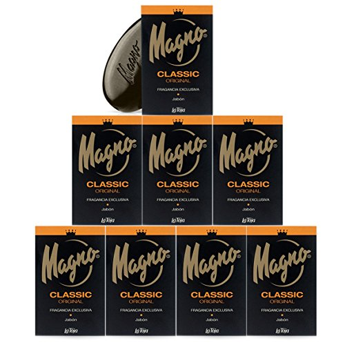 Magno Soap 4.4 oz La Toja. Magno Classic Black 8 pack