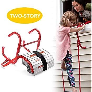 Delxo Fire Escape Ladder 2 Story Portable Emergency Escape Ladder All New Anti Slip