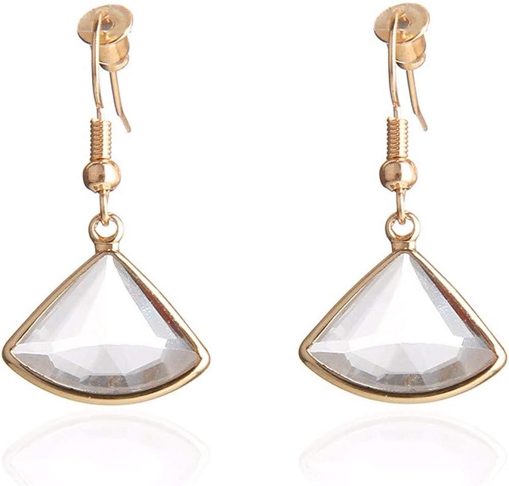 WANGLETA Pendientes Pendiente de botón Pendiente Joyas de cristal tallada Pendientes de piedras preciosas, B