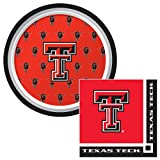 Creative Converting Texas Tech Dessert Napkins & Plates Party Kit for 8
