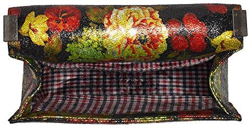 LAURA VITA Chili - Borse Baguette Donna, Schwarz (Noir), 10x16x25 cm (B x H T)
