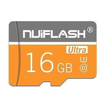 y2y3zfal NUI Flash Super Speed C10 Transmisión Micro SD TF Tarjeta de Memoria para cámara Altavoz Tarjeta de Memoria para teléfono Tableta 16GB