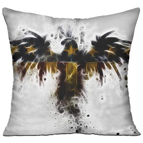 Hsdfnmnsv Fashion Sofa Decorative Throw Pillow Bald Eagle Illustration Deluxe Home Pillows 18