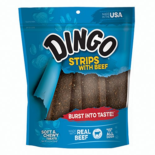 Dingo Beef - Dingo Beefy Strips Beef Jerky Chews for All Dogs, 12.5-Ounce