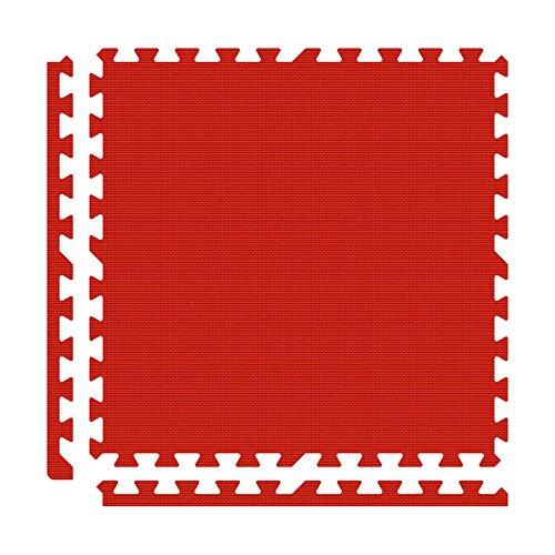 Alessco EVA Foam Rubber Interlocking Premium Soft Floors 10' x 10' Set Red ()