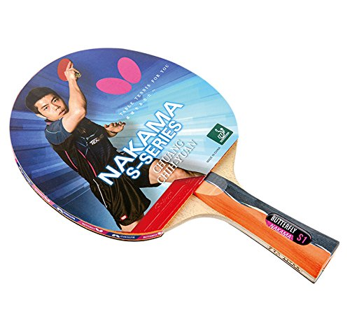 Butterfly Nakama S1 Carbon Blade-Sriver 1.9 Rubbers Table Tennis Racket by Butterfly