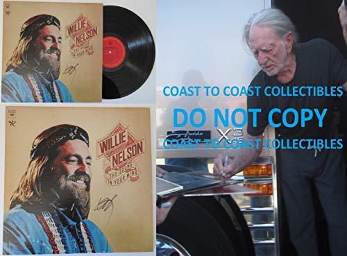 Willie Nelson signed autographed The Sound in your Mind Album, Vinyl Record, COA with Proof Photo. STAR