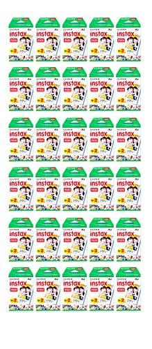 600 Prints Fujifilm instax Mini Film for Fuji 25 50s 7s, 8, 90 & 300 Mini Camera by Fujifilm