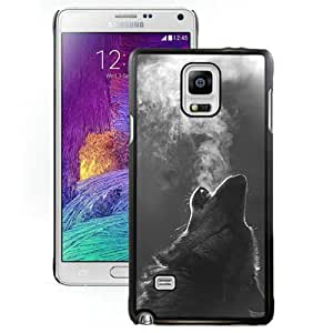 Winter Wolf Howling Black Fantastic Recommended Customized Samsung Galaxy Note 4 Phone Case