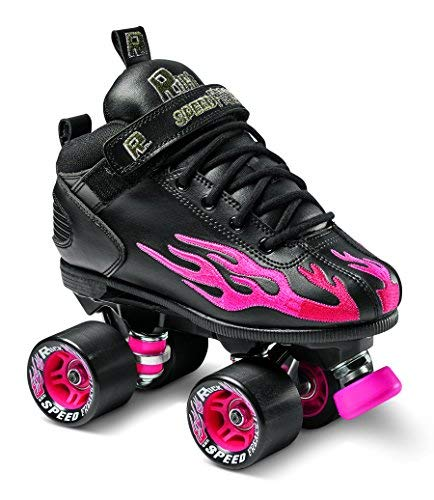 (Sure-Grip Rock Flame Ruby Rollerskates (Mens 7/Womens 8-8.5) )