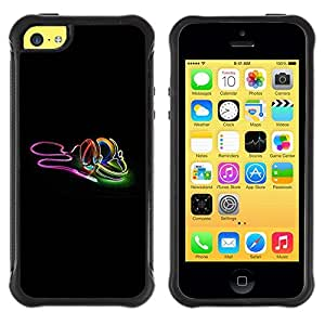 Suave TPU GEL Carcasa Funda Silicona Blando Estuche Caso de protección (para) Apple Iphone 5C / CECELL Phone case / / Neon earphones /