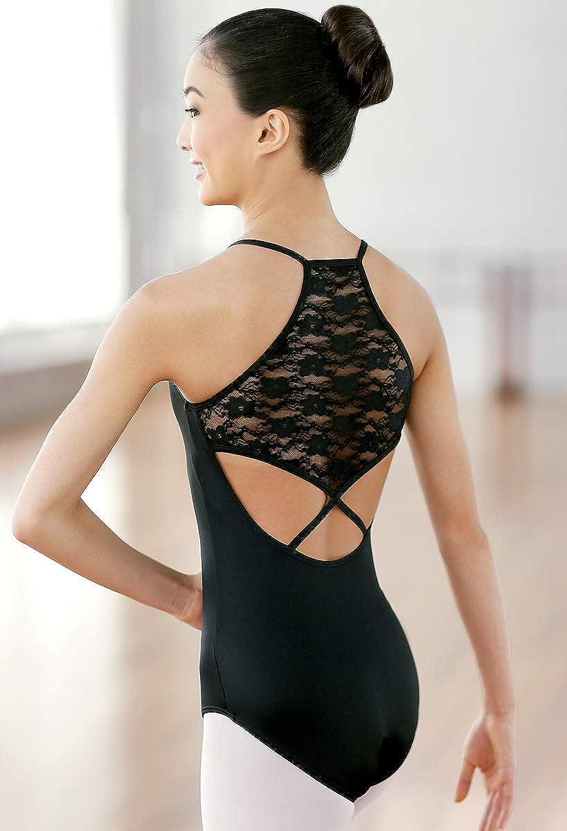 6c426434b886 Amazon.com  Balera Leotard Girls One Piece For Dance Womens Halter ...