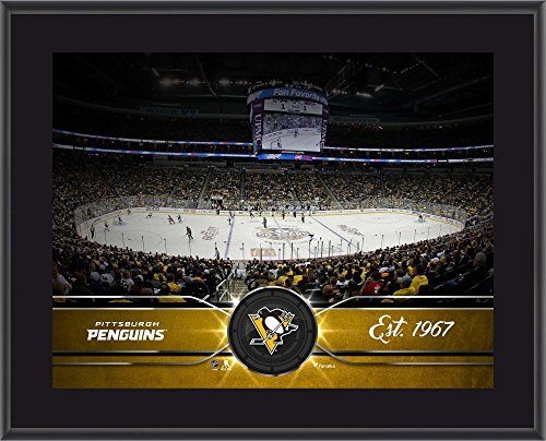 """Pittsburgh Penguins 10"""" x 13"""" Sublimated Team Stadium Plaque - NHL Team Plaques and Collages"""