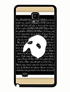 The Phantom Of The Opera Pattern Rich-colored Series Musical Samsung Galaxy Note 4 Back Case Cover yiuning's case wangjiang maoyi