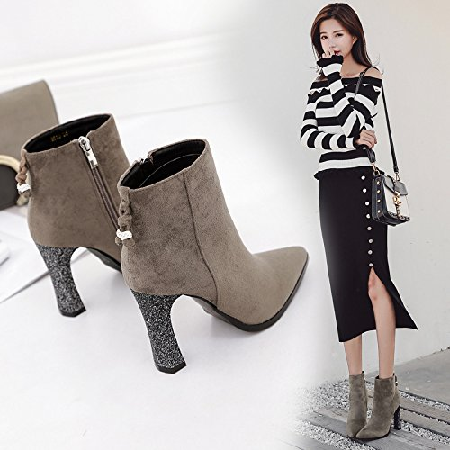 KPHY-Tip Of The Week For The High-Heel Shoes Star With Bold Satin Tip The Water Drilling High-Heel Shoes Short Boots Martin Boots Women Shoes Bare Boots Thirty-nine VMcfMjYGzg