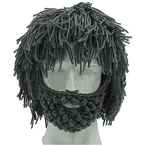 Used, OUMEIOU Creative Winter Hat Beard Hat, Knitting Wool for sale  Delivered anywhere in USA