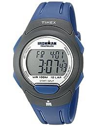 Timex Men's Ironman T5K610 Blue Resin Quartz Watch with Digital Dial