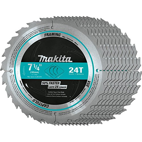 (Makita A-94839-10 7-1/4-Inch 24T Framing Blade, 10-Pack)