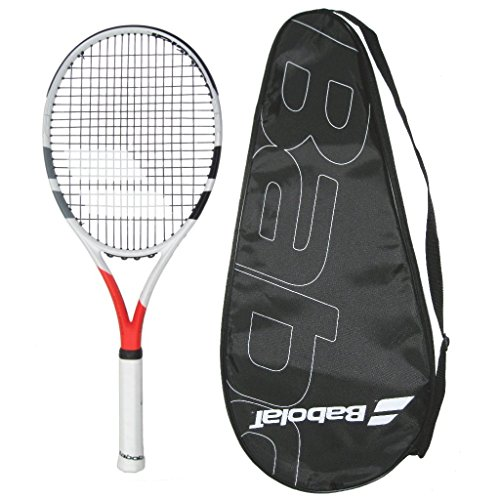 Babolat 2019 Boost Strike Tennis Racquet - STRUNG with COVER (4-3/8) (Best Babolat Racquet For Intermediate Player)