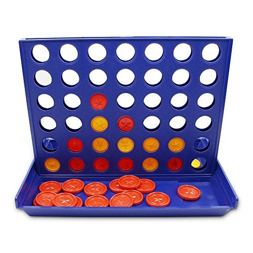 4 in a Row QM-STAR Line Up 4 Game Classic Family 4 in a Row Board Game Children `s Educational Toys Three-Dimensional 4
