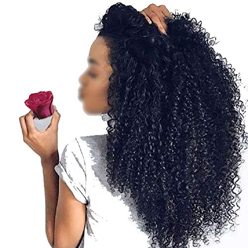 360 Lace Frontal Wig Remy Brazilian Kinky Curly Wig For WomenHair Babyhair Black Color with Full End,24inches