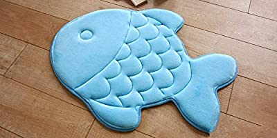 Hughapy174; Slow Rebound Memory Foam Children Bath Rug Waste Absorbing Slip Resistant Coral Fleece Mat Doormat Carpet