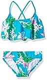 Kanu Surf Big Girls' Alania Flounce Bikini Beach Sport 2-Piece Swimsuit, Floral Aqua, 7