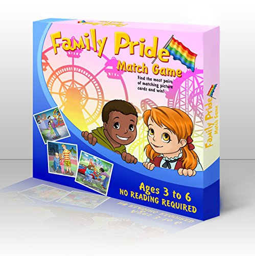 Family Pride Memory Match Game - Kid's Matching Game - Children's Memory Game - LGBT Parents