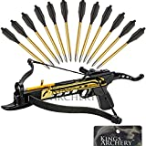 Crossbow Self-Cocking 80 LBS by KingsArchery® with Adjustable Sights and a Total of 15 Aluminim Arrow Bolt Set + KingsArchery® Warranty