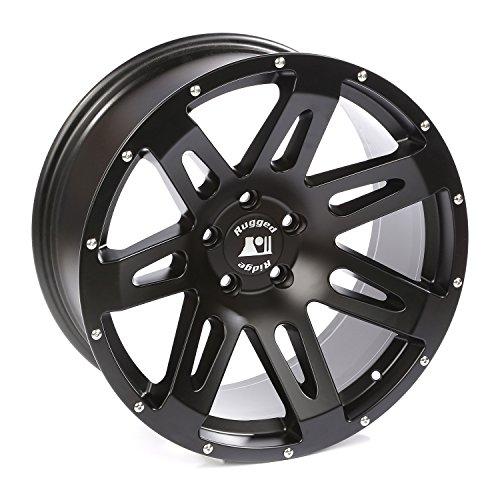 Rugged Ridge 15306.01 XHD Black Satin Wheel for Select Jeep Wrangler JK Models (20x9''/5''x5'') by Rugged Ridge