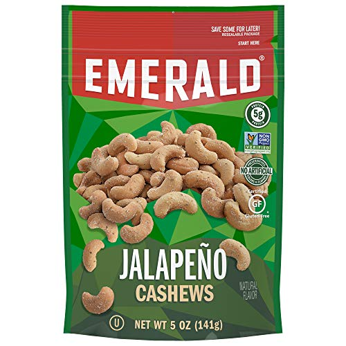 Emerald Jalapeño Cashews Stand Up Resealable Bag, 5 ()