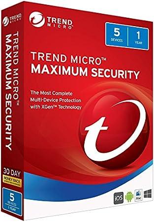 Trend Micro Maximum Security 2018 5 User