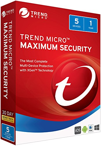 Trend Micro Maximum Security 2018 5 User [Key Card] (Download Trend Micro)