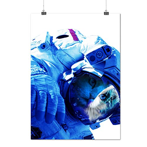 [Kitty Cat Astronaut Space Suit Matte/Glossy Poster A4 (9x12 inches) | Wellcoda] (Ragamuffin Costume)