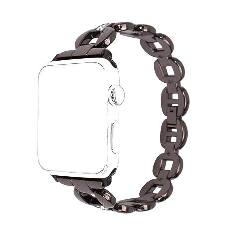 bracelet En 42mm Smartwatch Sport Band 42mm Iwatch Bracelet Noir Bande Schleife®femme Montre Rosa Acier Watch Apple De Remplacement H2YDE9WI